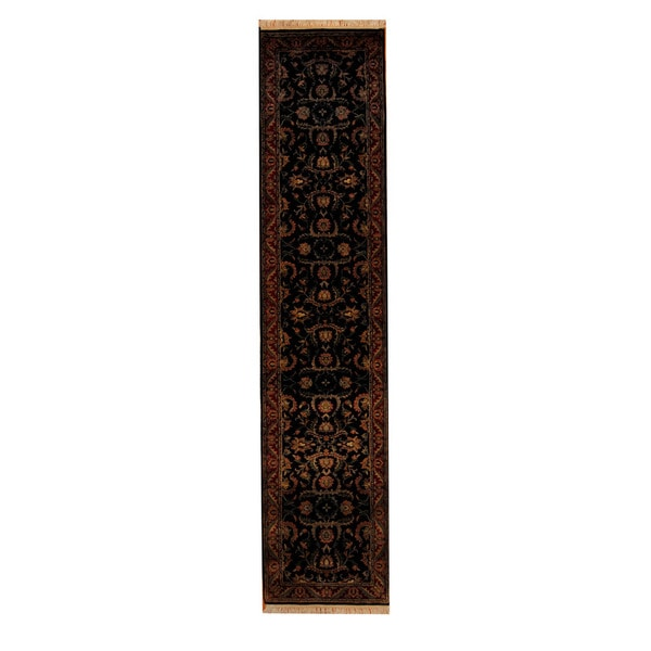 Herat Oriental Indo Hand-knotted Mahal Wool Runner (2'8 x 11'9)