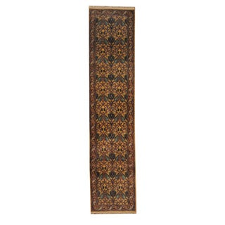 Herat Oriental Indo Hand-knotted Mahal Wool Runner (2'8 x 11'11)