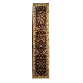 Herat Oriental Indo Hand-knotted Mahal Wool Rug (2'8 x 12')
