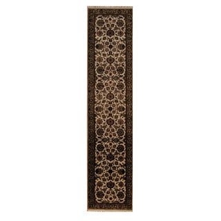 Herat Oriental Indo Hand-knotted Mahal Wool Runner (2'6 x 12')
