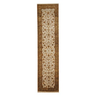 Herat Oriental Indo Hand-knotted Mahal Wool Runner (2'8 x 12')