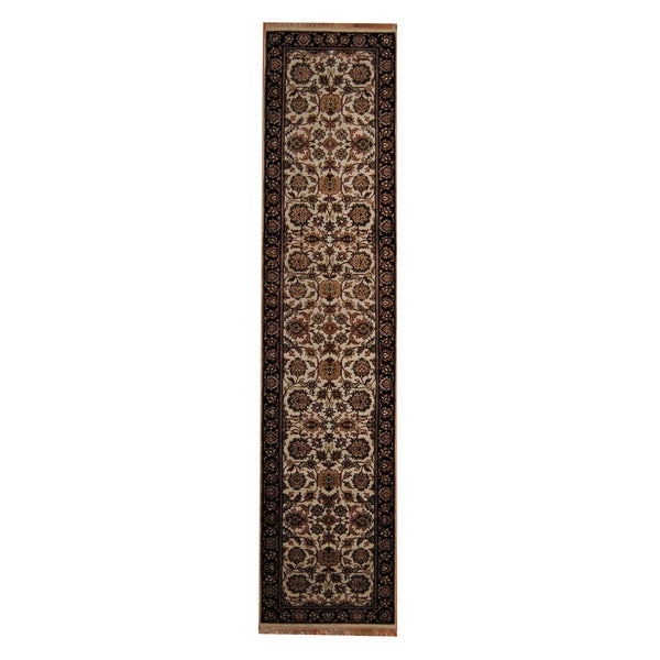 Herat Oriental Indo Hand-knotted Mahal Wool Runner (2'9 x 12'2)