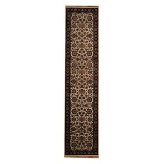Herat Oriental Indo Hand-knotted Mahal Wool Rug (2'9 x 12'2)