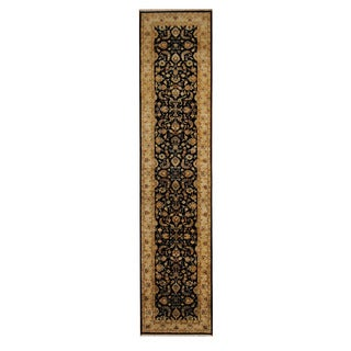 Herat Oriental Indo Hand-knotted Mahal Wool Rug (2'7 x 12')