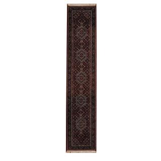 Herat Oriental Indo Hand-knotted Bidjar Wool Rug (2'7 x 12'4)
