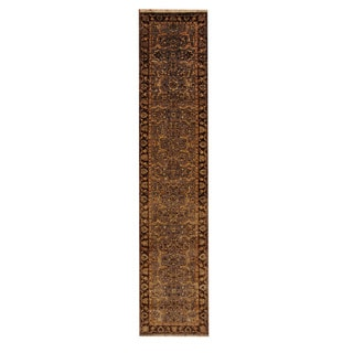 Herat Oriental Indo Hand-knotted Mahal Wool Rug (2'7 x 11'10)