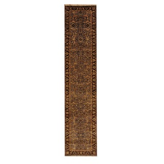 Herat Oriental Indo Hand-knotted Mahal Wool Runner (2'7 x 11'10)