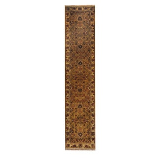 Herat Oriental Indo Hand-knotted Mahal Wool Rug (2'7 x 12'1)
