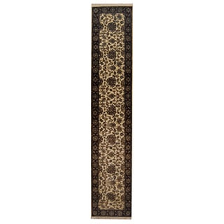 Herat Oriental Indo Hand-knotted Mahal Wool Runner (2'8 x 13'7)