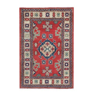 Herat Oriental Afghan Hand-knotted Tribal Vegetable Dye Kazak Wool Rug (2'1 x 3'1)