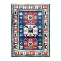 Herat Oriental Afghan Hand-knotted Tribal Vegetable Dye Kazak Wool Rug (2' x 2'9)