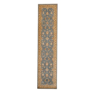 Herat Oriental Afghan Hand-knotted Tribal Vegetable Dye Oushak Wool Runner (2'9 x 12')