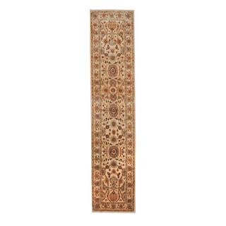 Herat Oriental Afghan Hand-knotted Tribal Vegetable Dye Oushak Wool Rug (2'7 x 12')