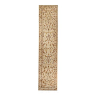 Herat Oriental Afghan Hand-knotted Tribal Vegetable Dye Oushak Wool Rug (2'6 x 11'2)