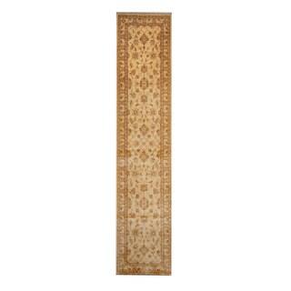 Herat Oriental Afghan Hand-knotted Tribal Vegetable Dye Oushak Wool Rug - 2'6 x 11'10