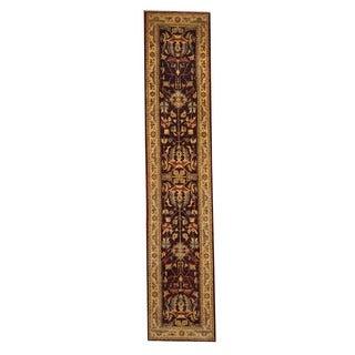 Herat Oriental Afghan Hand-knotted Tribal Vegetable Dye Oushak Wool Rug (2'7 x 14')
