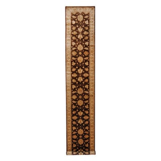 Herat Oriental Afghan Hand-knotted Tribal Vegetable Dye Oushak Wool Rug (2'6 x 14'6)