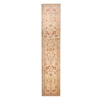 Herat Oriental Afghan Hand-knotted Tribal Vegetable Dye Oushak Wool Rug (2'7 x 12'10)