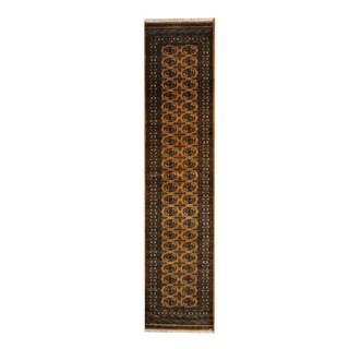 Herat Oriental Pakistani Hand-knotted Bokhara Wool Runner - 2'8 x 11'9