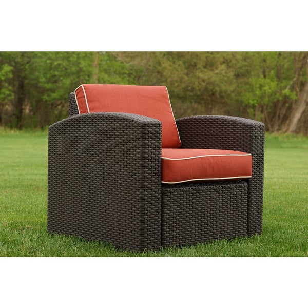 Shop Cielo Patio Resin Wicker Chair - Free Shipping Today ... on Safavieh Outdoor Living Granton 5 Pc Living Set id=51794