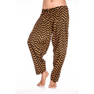 Handmade In-Sattva Women's Indian Chevron Print Patiala Pants (India)