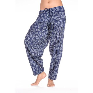 Handmade In-Sattva Women's Indian Dancing Flowers Print Patiala Pants (India)