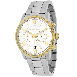 Michael Kors Men's MK8396 Hawthorne Round Silvertone Stainless Steel Bracelet Watch