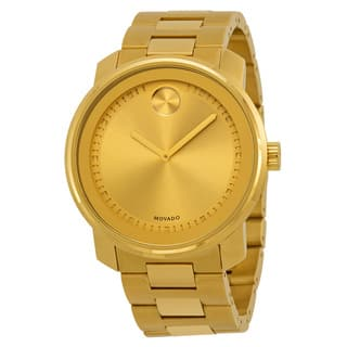 Movado Men's 3600258 Bold Round Gold Ion-Plated Stainless Steel Bracelet Watch|https://ak1.ostkcdn.com/images/products/10326010/P17436478.jpg?impolicy=medium