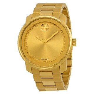 Movado Men's 3600258 Bold Round Gold Ion-Plated Stainless Steel Bracelet Watch