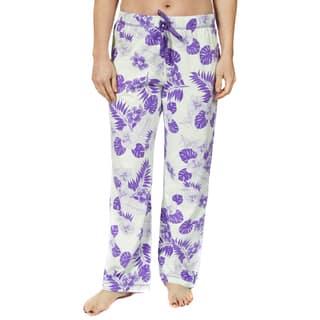 Leisureland Women's Cotton Jersey Vintage Botanical Floral Pajama Pants|https://ak1.ostkcdn.com/images/products/10326039/P17436500.jpg?impolicy=medium