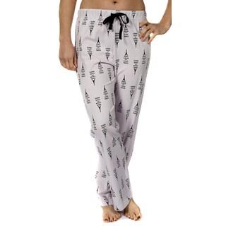 Keep Calm and Love Paris Eiffel Tower Leisureland Women's Jersey Cotton Knit Pajama Pants