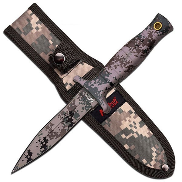 Mtech USA Fixed Blade Knife 4.5-inch Digital Camo Coat Blade