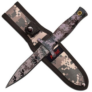 Mtech USA Fixed Blade Knife 4.5-inch Digital Camo Coat Blade