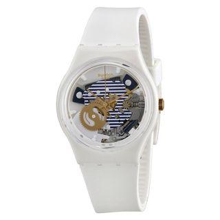 Swatch Unisex GW169 'Original' White Silicone Watch