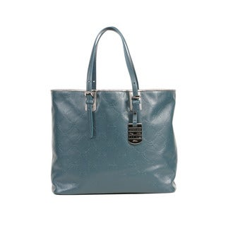 Longchamp Duck Blue LM Cuir Medium Shoulder Tote