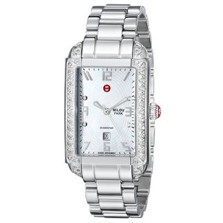 Michele Women's MWW15C000016 'Milou' Diamond Stainless Steel Watch