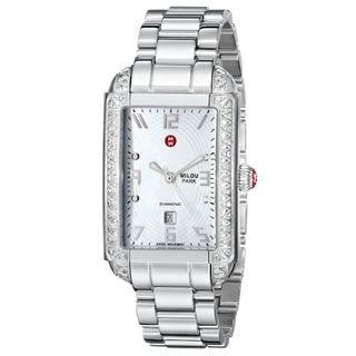 Michele Women's MWW15C000016 'Milou' Diamond Stainless Steel Watch
