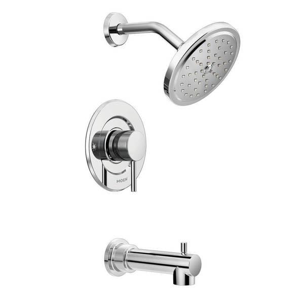 moen align chrome finish tub and shower faucet