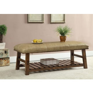 Treasure Trove Accents Foster Mid Brown Accent Bench