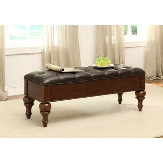 Treasure Trove Accents Front Royal Brown Accent Bench