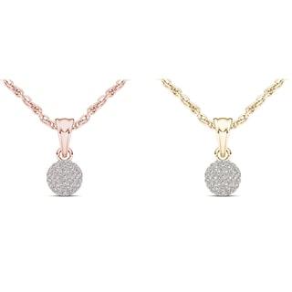De Couer 10k Gold 1/4ct TDW Diamond Cluster Necklace (H-I, I2)