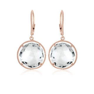 Collette Z Rose-plated Stering Silver Cubic Zirconia Dangling Earrings