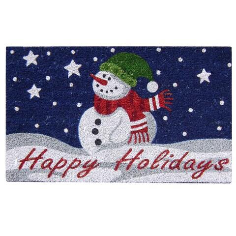 """SuperScraper Coir 'Happy Holidays' Door Mat (18"""" x 30"""")"""