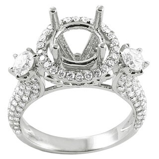 Elora 18k White Gold 1 7/8ct TDW Diamond Semi-mount Engagement Ring (H-I, I1-I2)