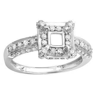 Elora 14k White Gold 3/4ct TDW Diamond Semi-mount for Princess Center Engagement Ring (H-I, I1-I2)