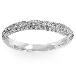 10k Gold 1/4ct TDW Pave Diamond Anniversary Wedding Band (I-J, I2-I3)