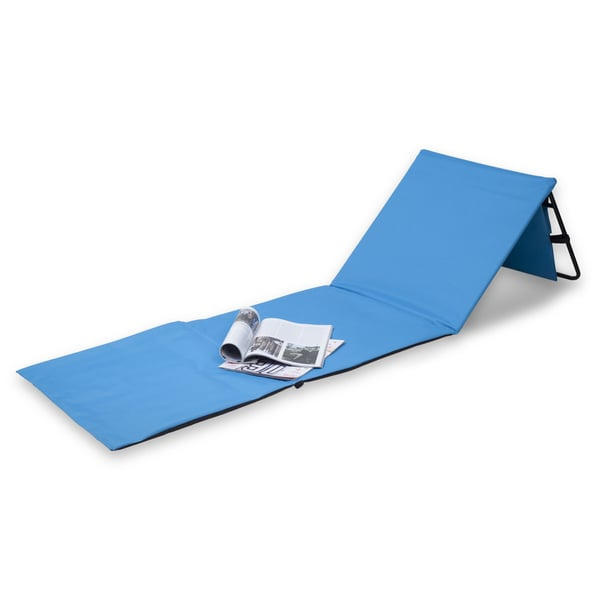 Danya B™ Set of 2 Blue Portable Beach Lounge Chairs with