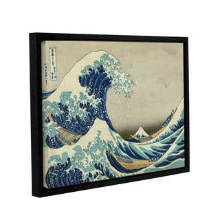 ArtWall Katsushika Hokusai 'The Great Wave off Kanagawa' Gallery Wrapped Floater-framed Canvas