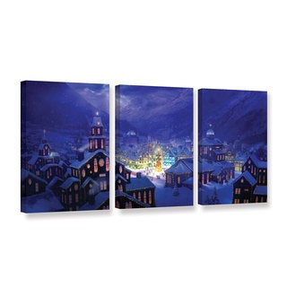 ArtWall Philip Straub 'Christmas Town' 3 Piece Gallery-wrapped Canvas Set