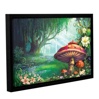 ArtWall Philip Straub 'Enchanted Forest' Gallery-wrapped Floater-framed Canvas